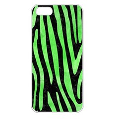 Skin4 Black Marble & Green Watercolor (r) Apple Iphone 5 Seamless Case (white) by trendistuff