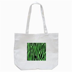 Skin4 Black Marble & Green Watercolor (r) Tote Bag (white) by trendistuff