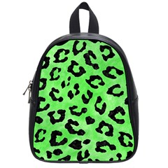 Skin5 Black Marble & Green Watercolor School Bag (small) by trendistuff