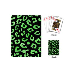 Skin5 Black Marble & Green Watercolor (r) Playing Cards (mini)  by trendistuff