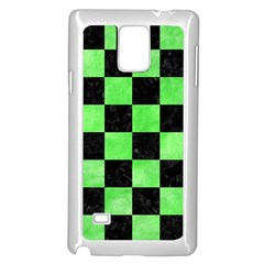 Square1 Black Marble & Green Watercolor Samsung Galaxy Note 4 Case (white) by trendistuff
