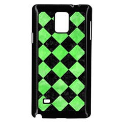 Square2 Black Marble & Green Watercolor Samsung Galaxy Note 4 Case (black) by trendistuff