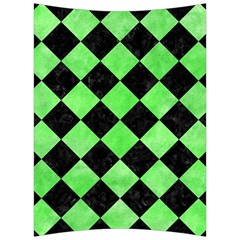 Square2 Black Marble & Green Watercolor Back Support Cushion by trendistuff