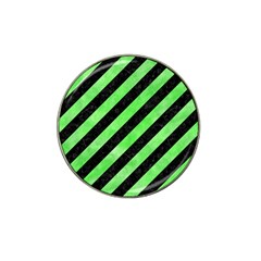 Stripes3 Black Marble & Green Watercolor Hat Clip Ball Marker (4 Pack) by trendistuff