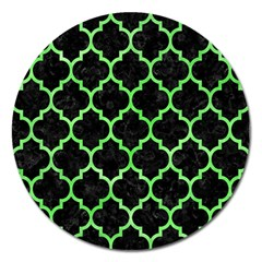Tile1 Black Marble & Green Watercolor Magnet 5  (round) by trendistuff