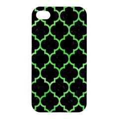 Tile1 Black Marble & Green Watercolor Apple Iphone 4/4s Premium Hardshell Case by trendistuff