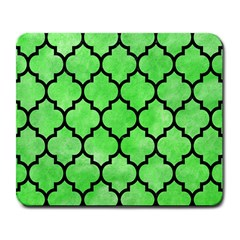 Tile1 Black Marble & Green Watercolor (r) Large Mousepads by trendistuff