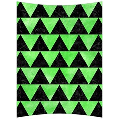 Triangle2 Black Marble & Green Watercolor Back Support Cushion by trendistuff