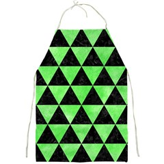 Triangle3 Black Marble & Green Watercolor Full Print Aprons by trendistuff
