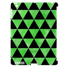 Triangle3 Black Marble & Green Watercolor Apple Ipad 3/4 Hardshell Case (compatible With Smart Cover) by trendistuff