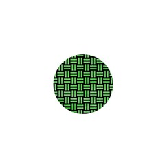 Woven1 Black Marble & Green Watercolor 1  Mini Magnets by trendistuff