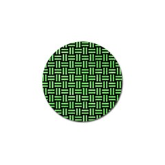 Woven1 Black Marble & Green Watercolor Golf Ball Marker (4 Pack) by trendistuff