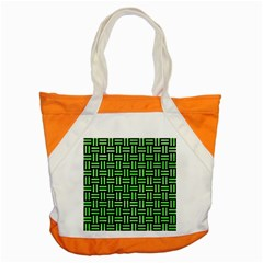 Woven1 Black Marble & Green Watercolor Accent Tote Bag