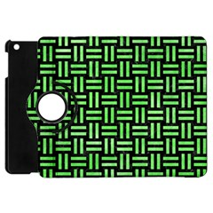 Woven1 Black Marble & Green Watercolor Apple Ipad Mini Flip 360 Case by trendistuff