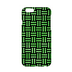 Woven1 Black Marble & Green Watercolor Apple Iphone 6/6s Hardshell Case by trendistuff
