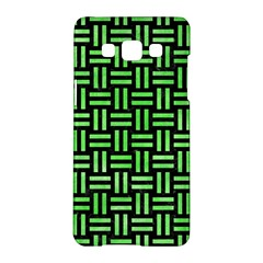 Woven1 Black Marble & Green Watercolor Samsung Galaxy A5 Hardshell Case  by trendistuff