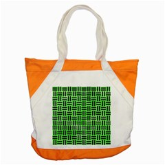 Woven1 Black Marble & Green Watercolor (r) Accent Tote Bag by trendistuff