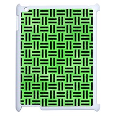 Woven1 Black Marble & Green Watercolor (r) Apple Ipad 2 Case (white) by trendistuff