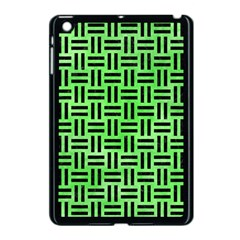 Woven1 Black Marble & Green Watercolor (r) Apple Ipad Mini Case (black) by trendistuff