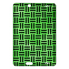 Woven1 Black Marble & Green Watercolor (r) Amazon Kindle Fire Hd (2013) Hardshell Case by trendistuff