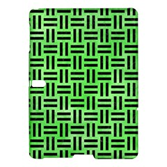 Woven1 Black Marble & Green Watercolor (r) Samsung Galaxy Tab S (10 5 ) Hardshell Case  by trendistuff