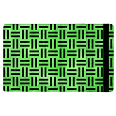 Woven1 Black Marble & Green Watercolor (r) Apple Ipad Pro 12 9   Flip Case by trendistuff