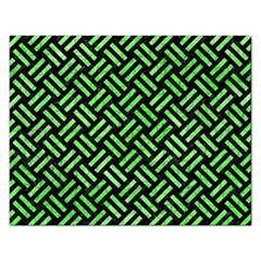 Woven2 Black Marble & Green Watercolor Rectangular Jigsaw Puzzl by trendistuff
