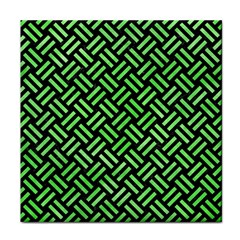 Woven2 Black Marble & Green Watercolor Face Towel