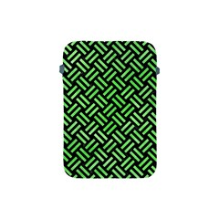 Woven2 Black Marble & Green Watercolor Apple Ipad Mini Protective Soft Cases by trendistuff