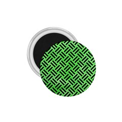 Woven2 Black Marble & Green Watercolor (r) 1 75  Magnets by trendistuff