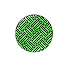 Woven2 Black Marble & Green Watercolor (r) Hat Clip Ball Marker by trendistuff