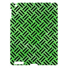 Woven2 Black Marble & Green Watercolor (r) Apple Ipad 3/4 Hardshell Case by trendistuff