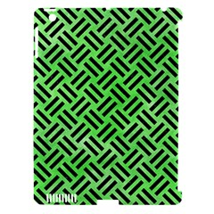 Woven2 Black Marble & Green Watercolor (r) Apple Ipad 3/4 Hardshell Case (compatible With Smart Cover) by trendistuff
