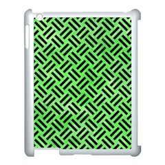 Woven2 Black Marble & Green Watercolor (r) Apple Ipad 3/4 Case (white) by trendistuff
