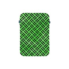 Woven2 Black Marble & Green Watercolor (r) Apple Ipad Mini Protective Soft Cases by trendistuff