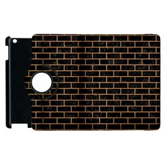 Brick1 Black Marble & Light Maple Wood Apple Ipad 3/4 Flip 360 Case by trendistuff