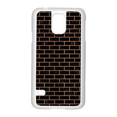 Brick1 Black Marble & Light Maple Wood Samsung Galaxy S5 Case (white) by trendistuff