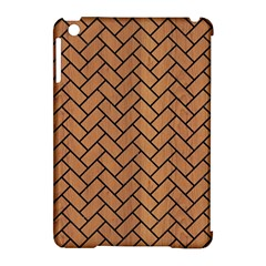 Brick2 Black Marble & Light Maple Wood (r) Apple Ipad Mini Hardshell Case (compatible With Smart Cover) by trendistuff