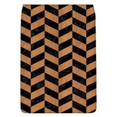 Chevron1 Black Marble & Light Maple Wood Flap Covers (l)  by trendistuff