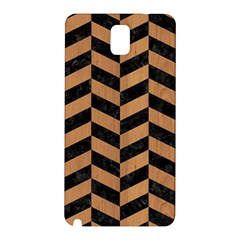 Chevron1 Black Marble & Light Maple Wood Samsung Galaxy Note 3 N9005 Hardshell Back Case by trendistuff