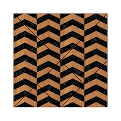 Chevron2 Black Marble & Light Maple Wood Acrylic Tangram Puzzle (6  X 6 ) by trendistuff