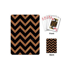 Chevron9 Black Marble & Light Maple Wood Playing Cards (mini)  by trendistuff