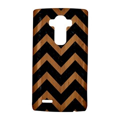 Chevron9 Black Marble & Light Maple Wood Lg G4 Hardshell Case by trendistuff