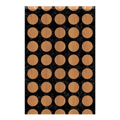 Circles1 Black Marble & Light Maple Wood Shower Curtain 48  X 72  (small)  by trendistuff