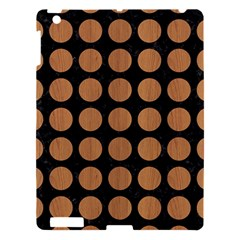 Circles1 Black Marble & Light Maple Wood Apple Ipad 3/4 Hardshell Case by trendistuff