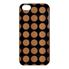 Circles1 Black Marble & Light Maple Wood Apple Iphone 5c Hardshell Case by trendistuff