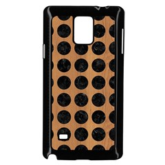 Circles1 Black Marble & Light Maple Wood (r) Samsung Galaxy Note 4 Case (black)