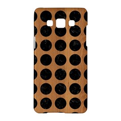 Circles1 Black Marble & Light Maple Wood (r) Samsung Galaxy A5 Hardshell Case  by trendistuff