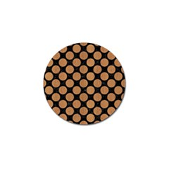 Circles2 Black Marble & Light Maple Wood Golf Ball Marker by trendistuff