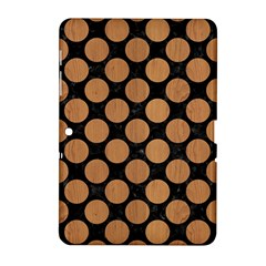 Circles2 Black Marble & Light Maple Wood Samsung Galaxy Tab 2 (10 1 ) P5100 Hardshell Case  by trendistuff
